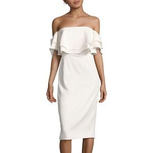 Keepsake Off the Shoulder Ivory Dress - Size S